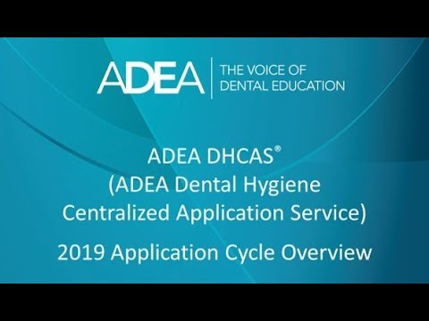ADEA DHCAS: Applicants