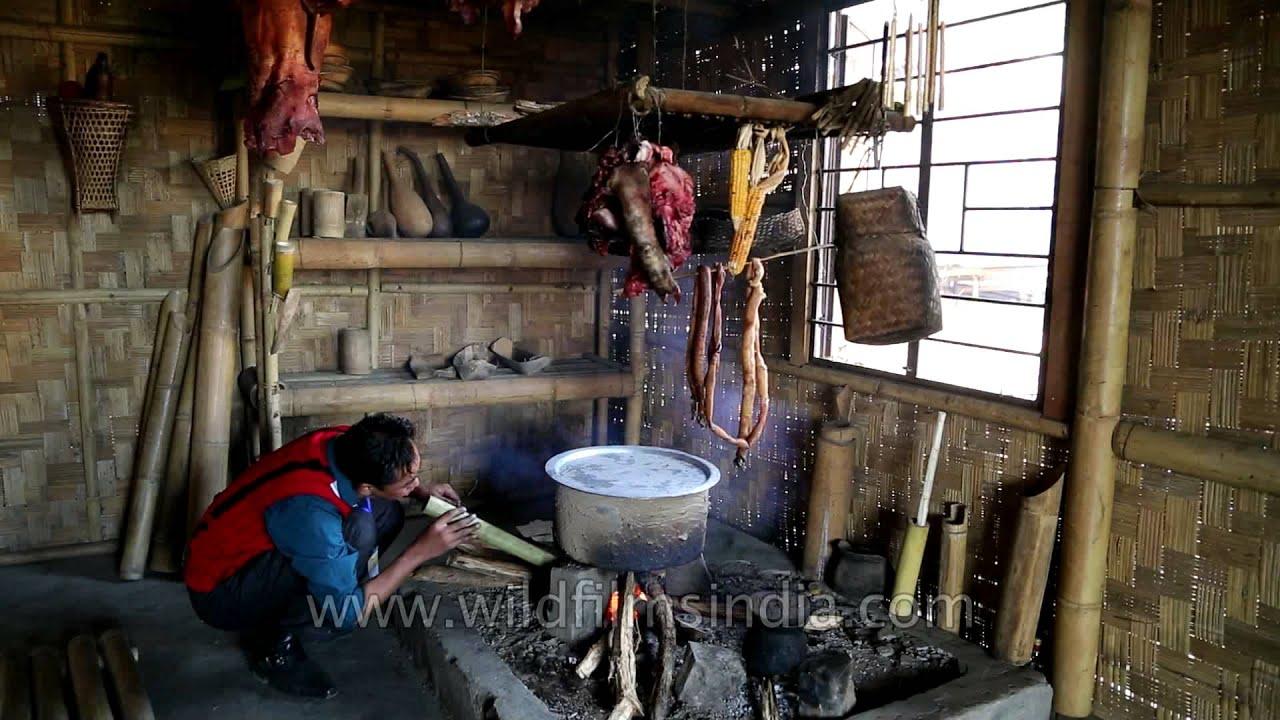 A View of Lotha kitchen at Kisama village