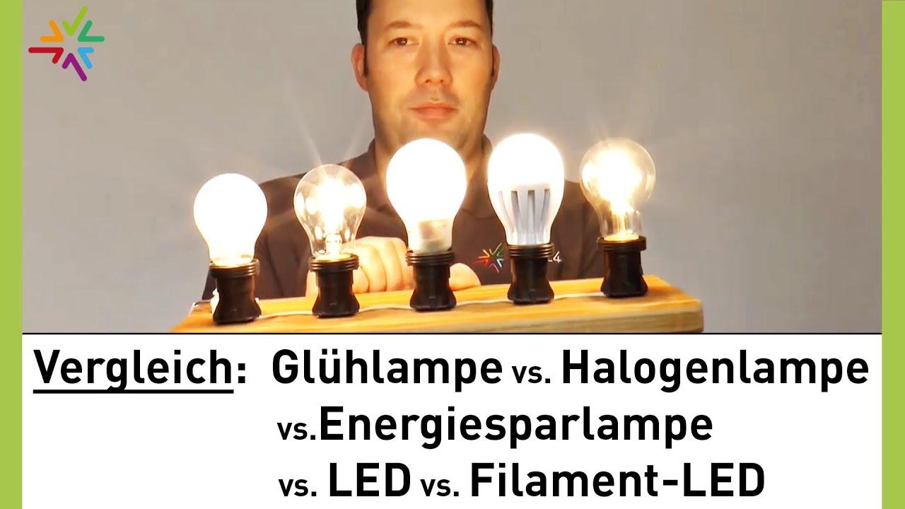 gl hlampe halogenlampe energiesparlampe led filament led im vergleich watt24 video nr 128. Black Bedroom Furniture Sets. Home Design Ideas