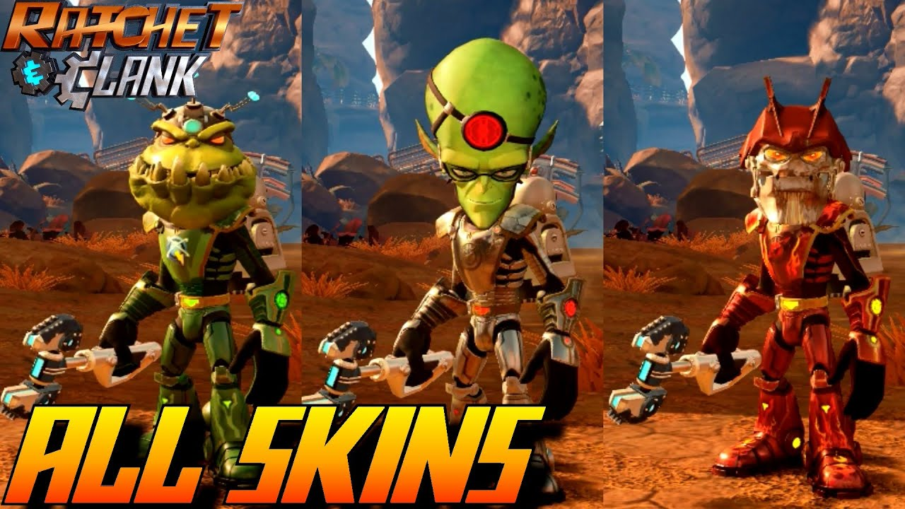 Ratchet and Clank PS4 - All Armor and Skins (Unlockables) - YouTube