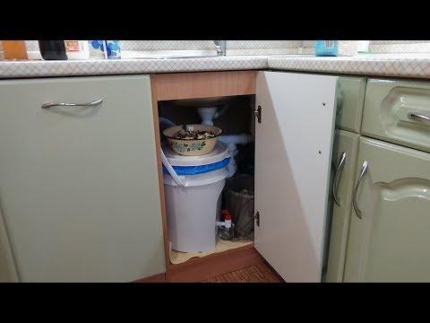 Как организовано использование ЭМ-ведра у меня на кухне. 2017г.