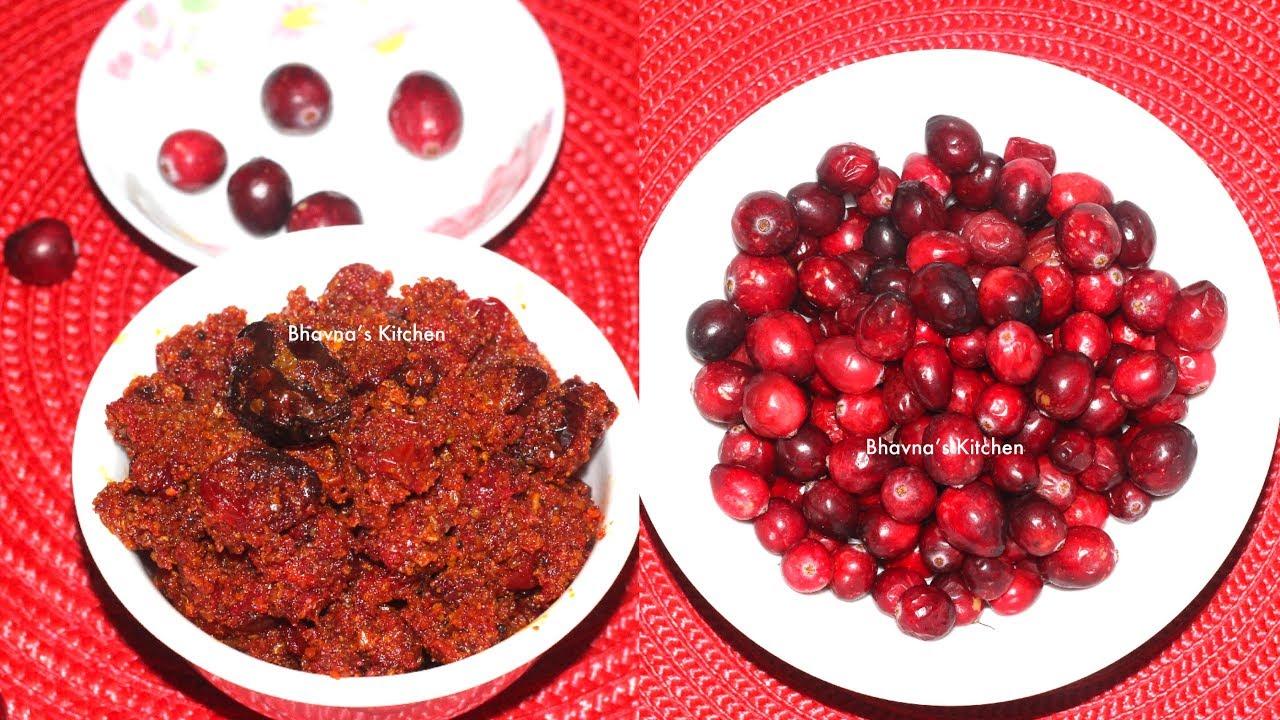 Hot Cranberry Pickle | Tikha Achar Video Recipe | Bhavna's Kitchen