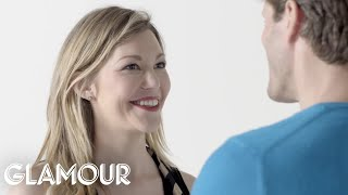 One Couple Stares At Each Other For 4 Minutes Straight | Glamour