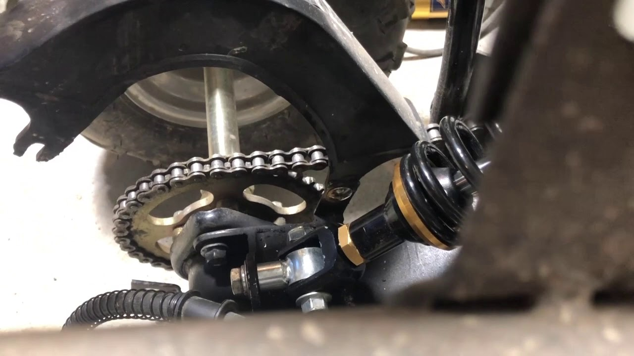 "10/"" Rear Shock Suspension Quad Dirt Pit Bike Go Kart ATV 110CC chinese TaoTao"