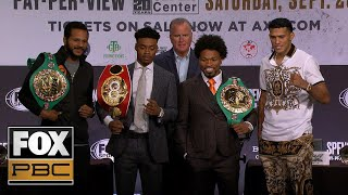 Watch the full press conference for Porter vs Spence Jr. from Los Angeles | PBC ON FOX