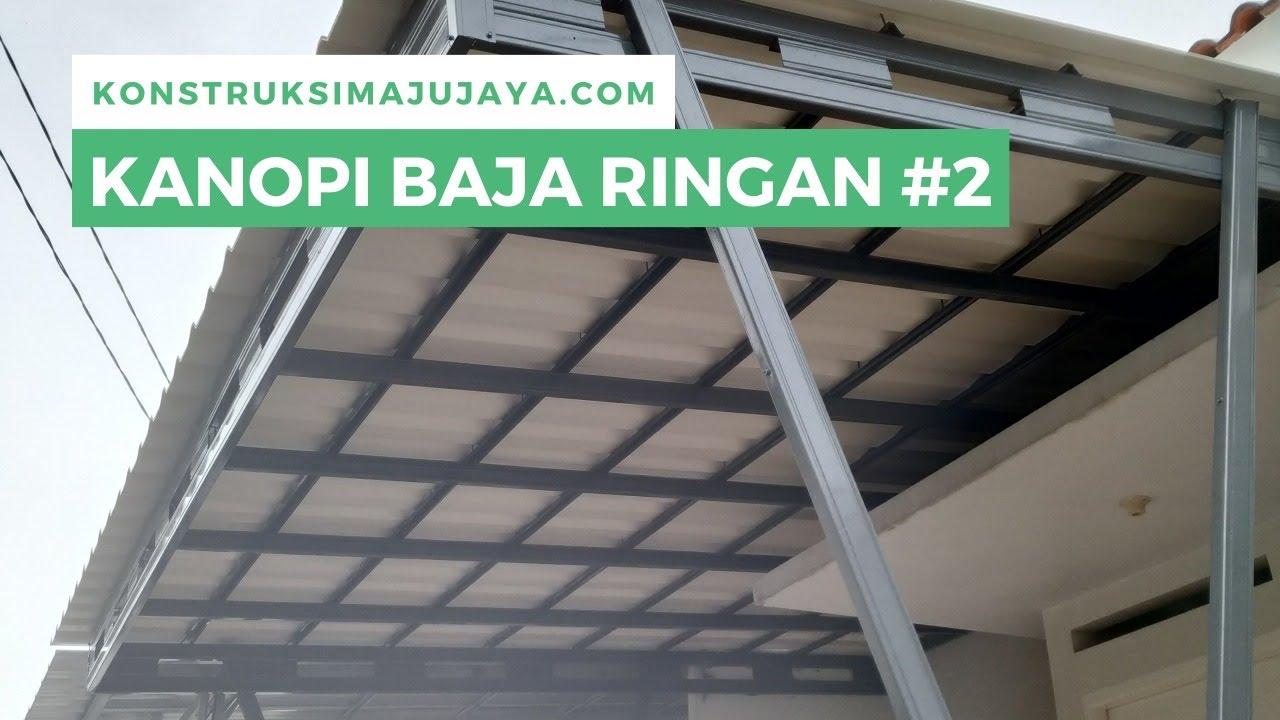 kanopi baja ringan tiang double kremona v atap twin layer upvc alderon