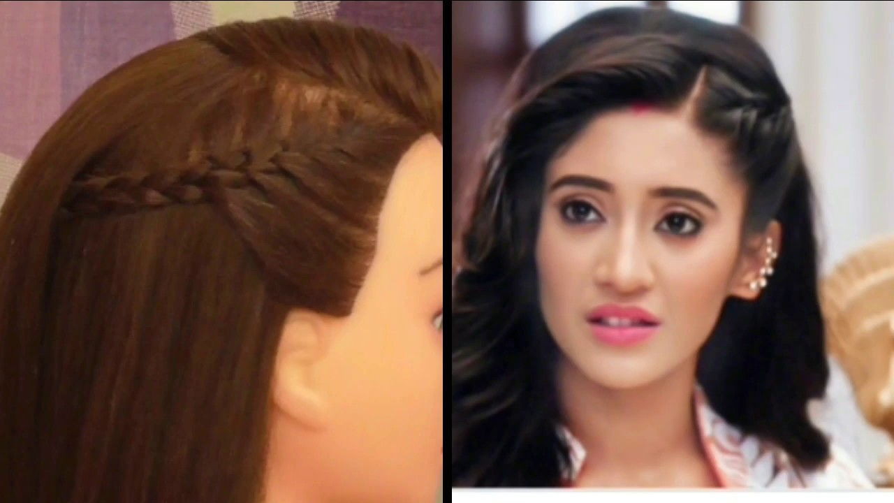 easy college girls hairstyle inspired by naira cute side french hairstyle for outgoing girls