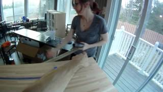 Cutting A Butcher Block Countertop With A Gopro Hero Hd On My Head