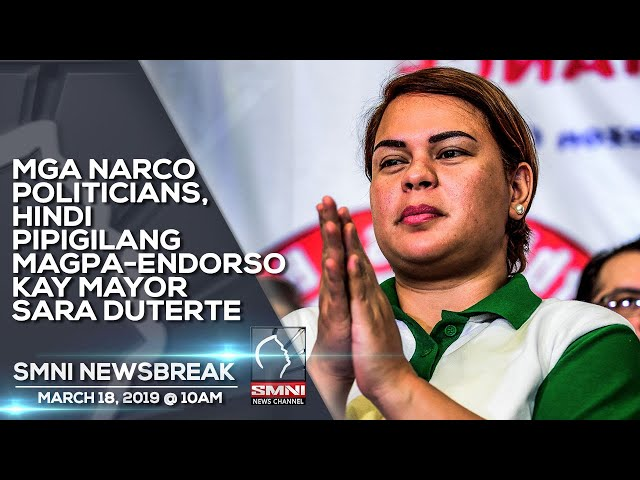 MGA NARCO POLITICIANS, HINDI PIPIGILANG MAGPA-ENDORSO KAY MAYOR SARA DUTERTE