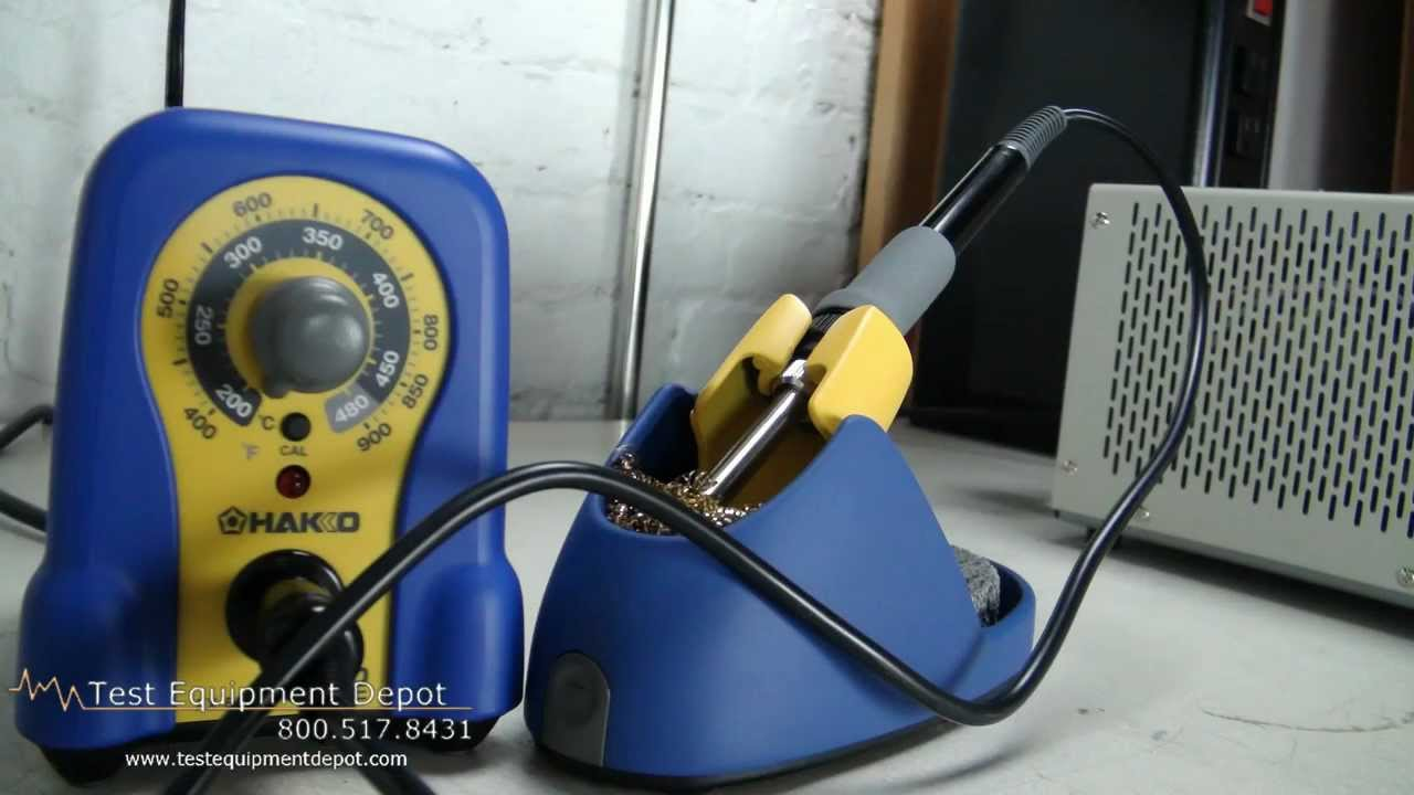 hakko fx 888 esd safe soldering station with fx 8801 soldering iron and t18 d16 tip youtube. Black Bedroom Furniture Sets. Home Design Ideas