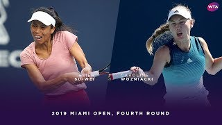 Hsieh Su-Wei vs. Carolina Wozniacki | 2019 Miami Open Fourth Round | WTA Highlights