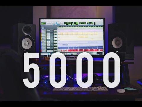 5,000 SUBS   Full day in the Studio   Vlog 114