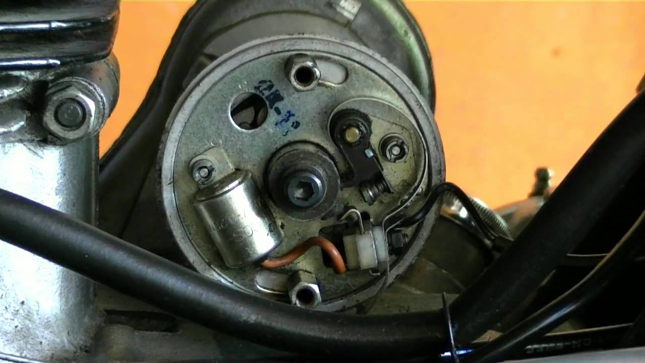 How To Tune Up A Royal Enfield Bullet Motorcycle Ignition Timing 1948 Indian Engine Diagram And Point Gap Youtube