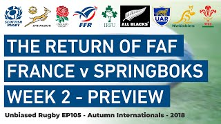 Springboks v France The Return of Faf. Autumn Internationals
