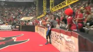 Jacksonville Sharks Fan Holds Georgia Force Arena Football League Player - YouTube.flv
