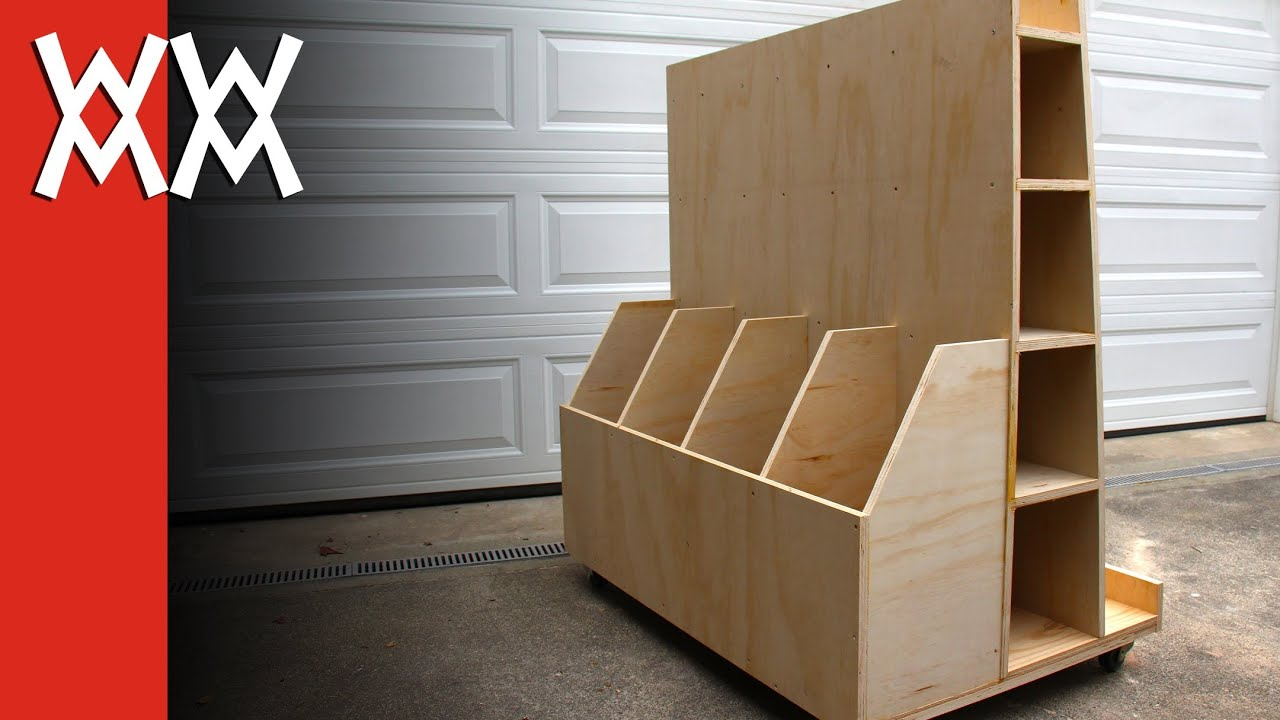 Delightful Build A Lumber Storage Cart For Your Workshop   YouTube