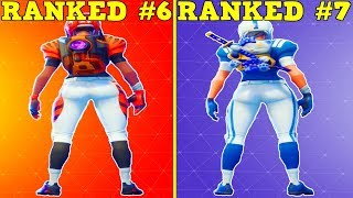 20 BEST NFL SKIN & BACKBLING COMBOS In FORTNITE! (You Must Use These Combos!)