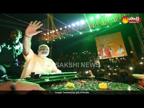PM Narendra Modi's Grand Roadshow In Gujarat's Surat