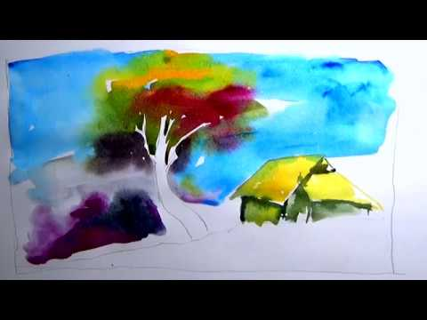 how to watercolor nature art for beginners | watercolor painting techniques