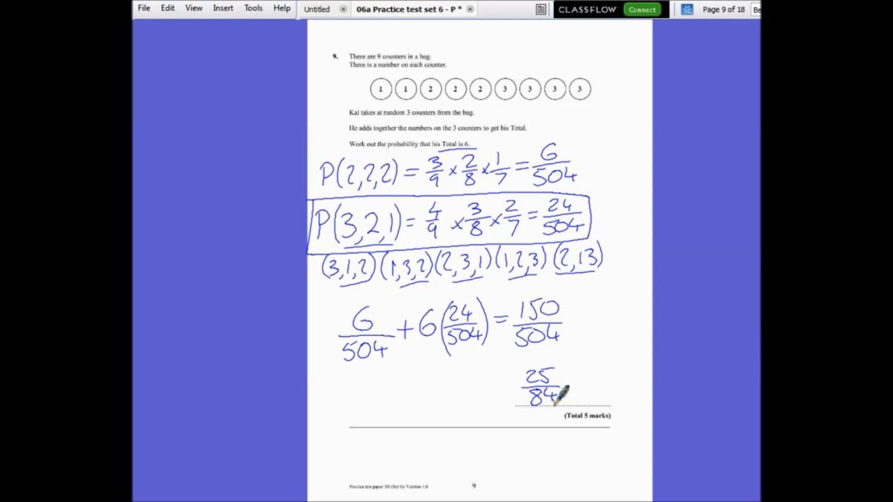 Edexcel GCSE Maths Practice Set 6 Paper 3H - YouTube