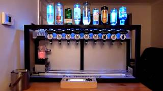 The automatic drink mixing machine -- robot bartender cocktail dispenser