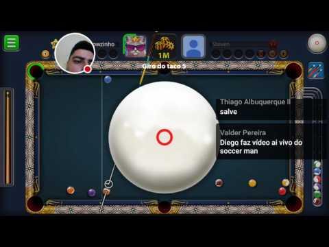 """8 Ball Pool - DE NOOB À MILIONÁRIO #11 [ACC DO SORTEIO 6K] """"AO VIVO"""""""