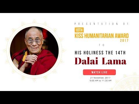 His Holiness Dalai Lama receives KISS Humanitarian Award