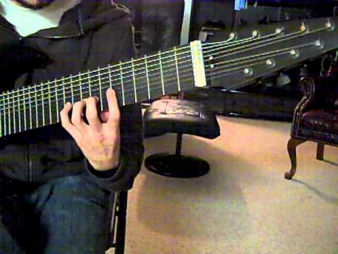 9 note diatonic scale on 16 tone nine string guitar youtube. Black Bedroom Furniture Sets. Home Design Ideas