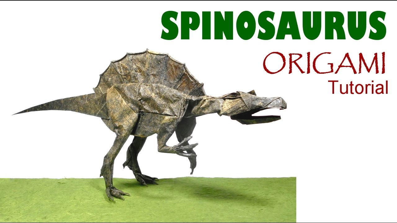 Origami Spinosaurus Tutorial Satoshi Kamiya Dinosaur Dinosaurier