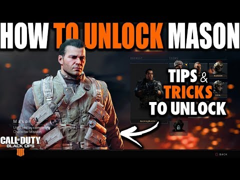 HOW TO UNLOCK MASON IN BLACK OPS 4 BLACKOUT | How to Unlock Characters in Call of Duty Black Ops 4