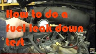 How to do a Fuel Pressure and Leak down test