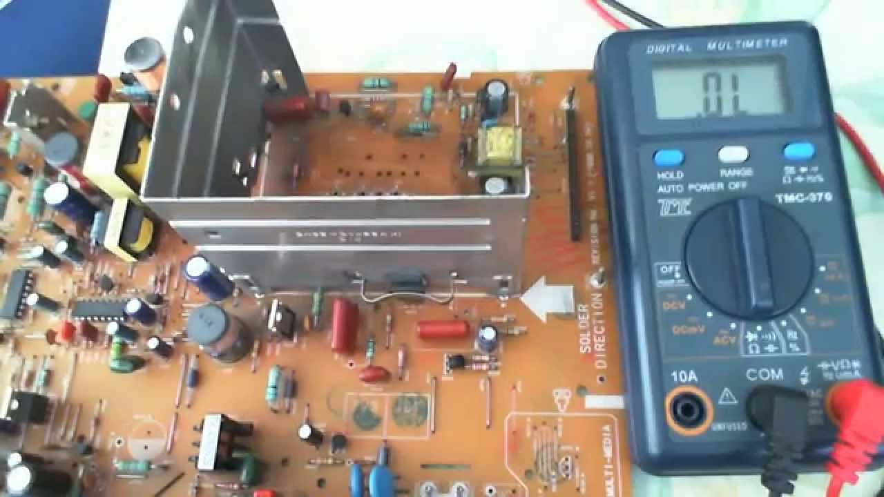 Electrnica Y Circuitos El Multimetro Digital Su Testing Circuit With Multimeter Stock Image 20315121 Medir Transistor En La Placa De Circuito