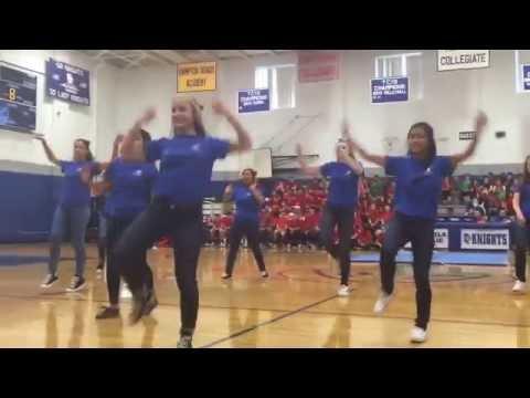 Peninsula Catholic High School Class of 2017 Girls Dance for Senior-Junior Showdown
