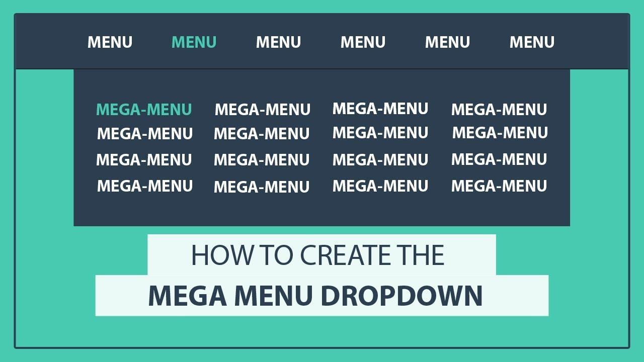 How to create the Mega Drop Down Menu using HTML and CSS - CSS Mega Menu