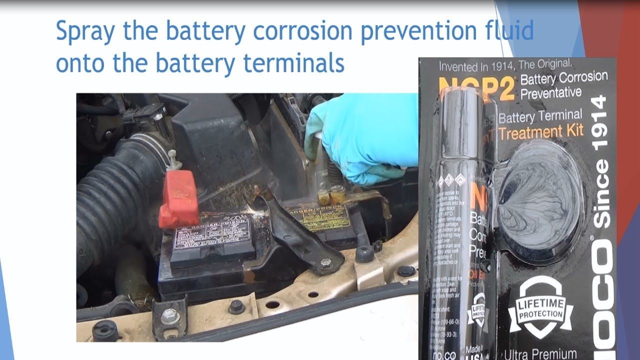 Car Battery S Terminal Cleaning W Battery Cleaner W Ncp2