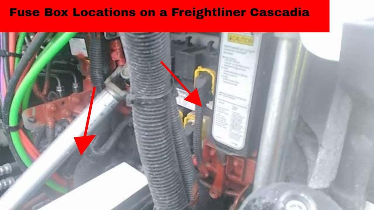 hight resolution of fuse box locations on a freightliner cascadia for light problems