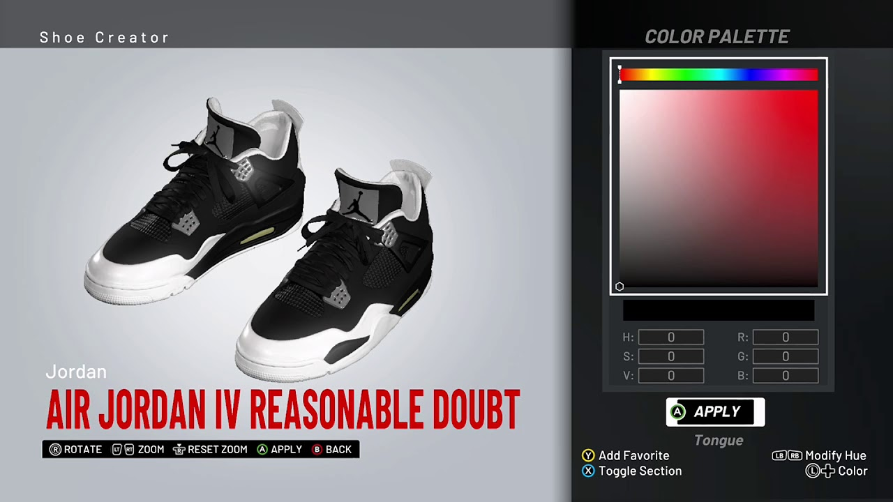 NBA 2K19 Shoe Creator - Air Jordan 4