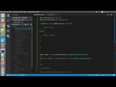 Basic Authorization #24 كورس تطوير خدمات الويب و API في لغة Restful API With Slim -PHP |