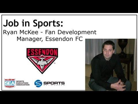 Job In Sports: Fan Development Manager - Essendon FC - Ryan McKee