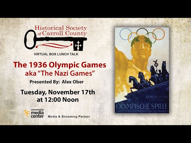 Box Lunch Talk: The 1936 Olympic Games