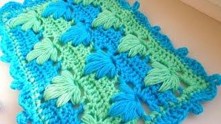 Детский плед крючком. How to crochet plaid.