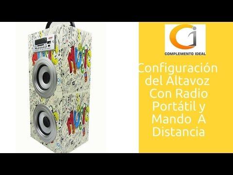 Cómo Configurar Altavoz Bluetooth Portátil Inalámbrico USB, Radio Letra Music SPEAKER | Parlante