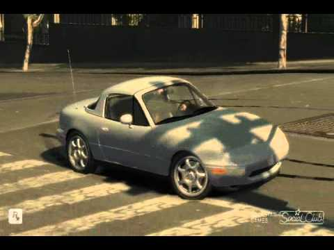 GTA IV 1997 Mazda Miata MX5 mod  YouTube