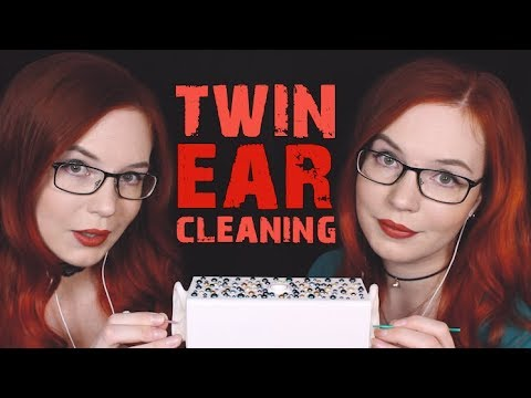 ASMR Twin Ear Cleaning - Cotton Bud, Earpick, Brush - INTENSE Scraping - No Talking