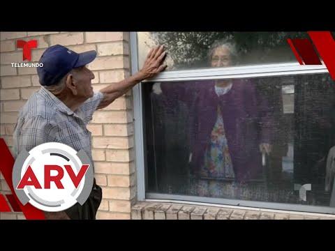 Pareja de ancianos es obligada a separarse y las imágenes son desgarradoras | Telemundo