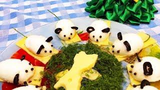 Новогодняя Закуска на Праздничный стол Мышки. Новогоднее Меню 2020. Фаршированные яйца.