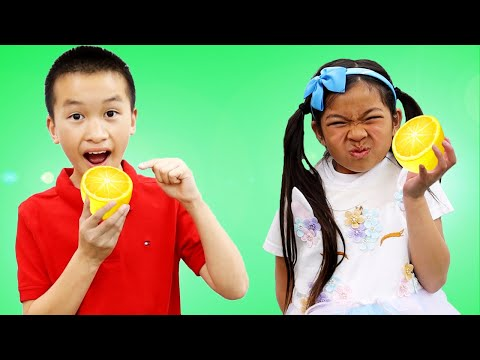 Emma and Andrew Opens a Lemonade Stand | Healthy Food for Kids