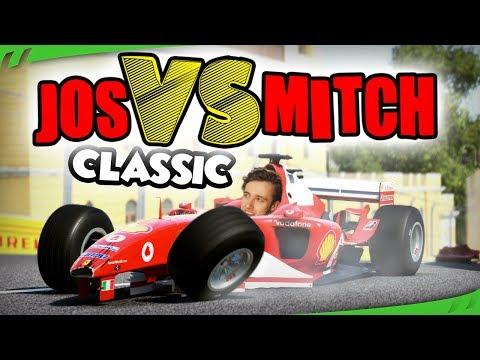 OUDE FERRARI'S PLATRIJDEN - Jos VS Mitch (F1 2017 Classic Cars)