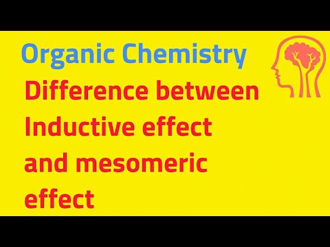 Organic Chemistry:What is the difference between inductive effect and mesomeric effect in English
