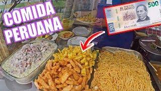 El Peso Mexicano en Lima PERU / COMIDA Callejera BARATA